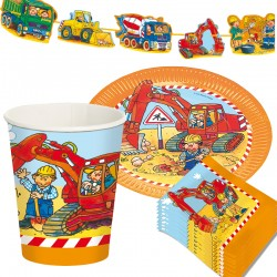 Kinderpartyset Bagger und Baustelle von Lutz Mauder