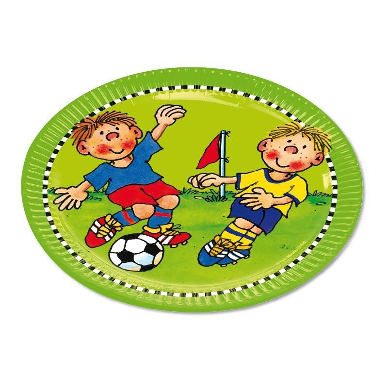 Pappteller Fussballer Fritz Flanke aus dem Lutz Mauder Verlag