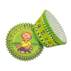 Muffinförmchen Fussballer Fritz Flanke aus dem Lutz Mauder Verlag
