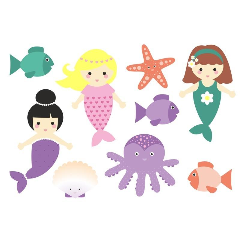 Wasserfeste Sticker Meerjungfrauen von Jabalou