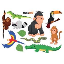 Wasserfeste Sticker Dschungeltiere von Tweebug