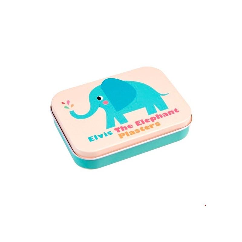 Pflaster Elvis the Elephant in Metalldose von Rex London