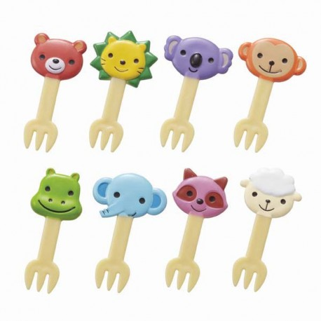 Bento Fork Food Picks - 8 Mini Gabeln Tiere
