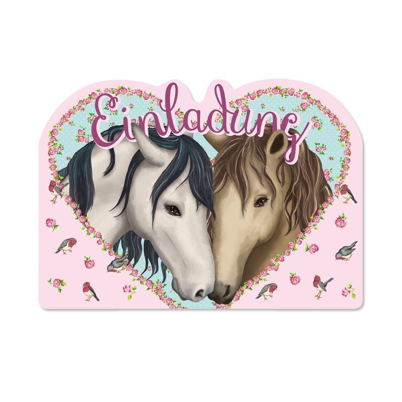 einladungskarten pferde für einen kindergeburtstag von