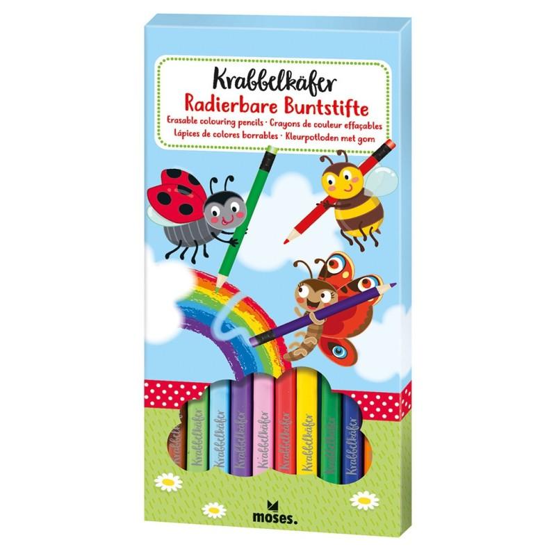 Radierbare Buntstifte Krabbelkäfer vom moses Verlag