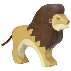 Holztiger Holzfigur Löwe