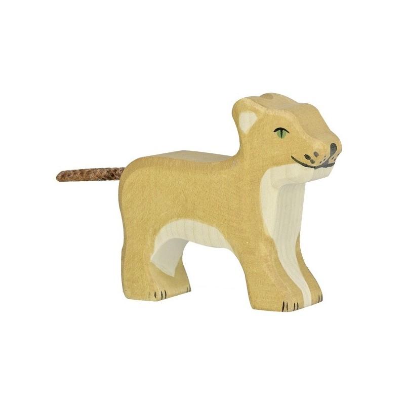 Holztiger Holzfigur Kleiner Löwe