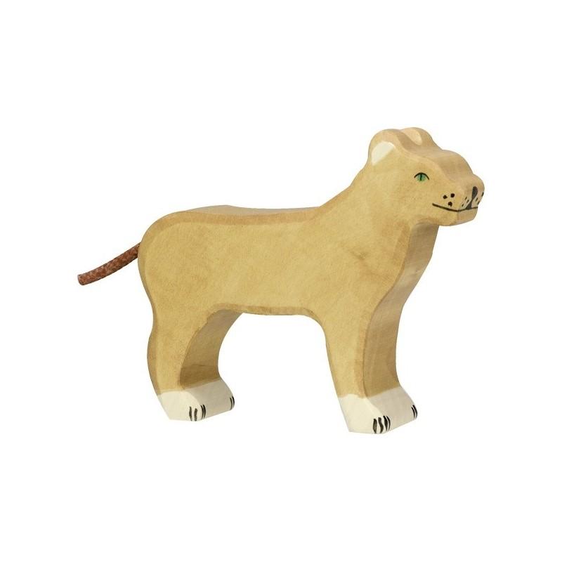 Holztiger Holzfigur Löwin