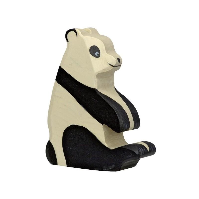 Holztiger Holzfigur Pandabär