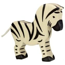 Holztiger Holzfigur Zebra