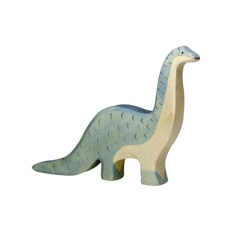 Holztiger Holzfigur Dinosaurier Brontosaurus