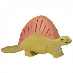 Holztiger Holzfigur Dinosaurier Dimetrodon