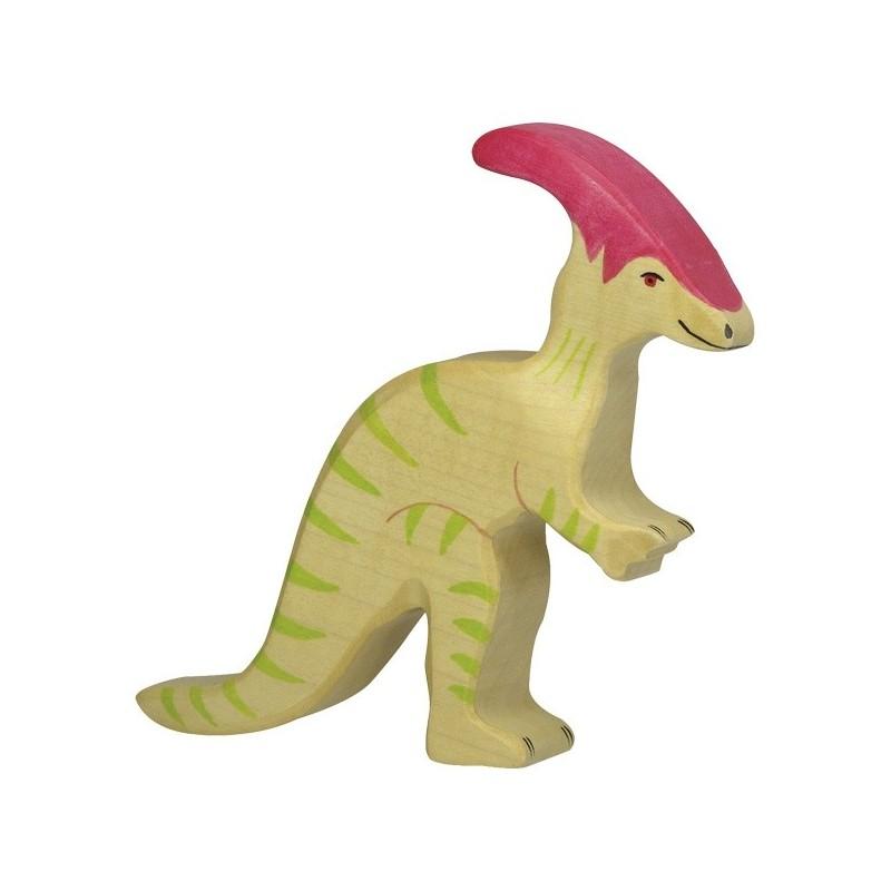 Holztiger Holzfigur Dinosaurier Parasaurolophus