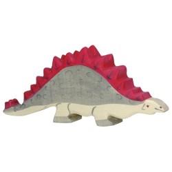 Holztiger Holzfigur Dinosaurier Stegosaurus