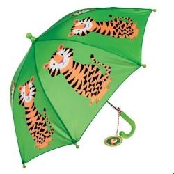 Kinder Regenschirm Teddy the Tiger in grün