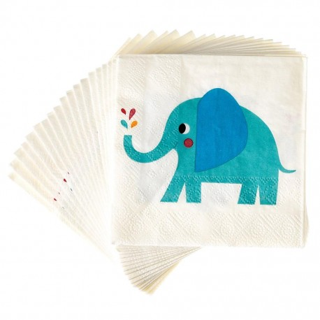 Servietten Elvis the Elephant von Rex London