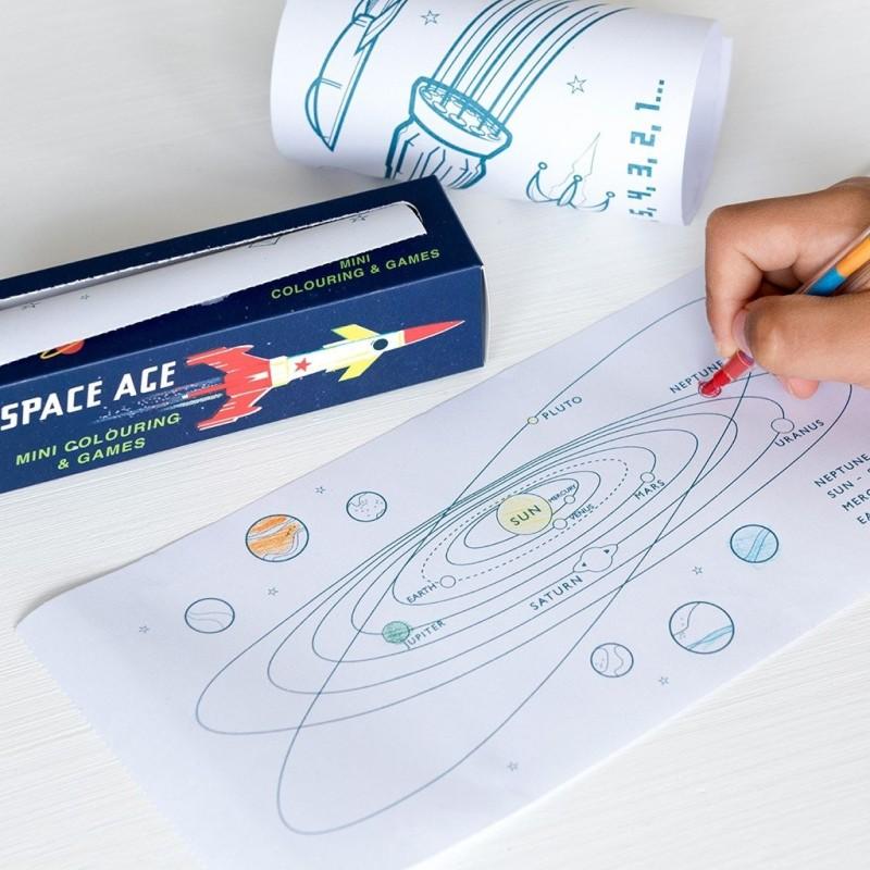 Mini Spiele und Ausmalen Space Age von Rex London
