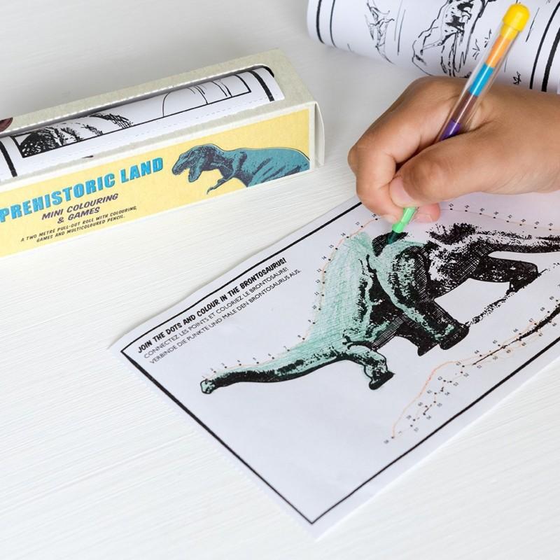 Mini Spiele und Ausmalen Dinosaurier Prehistoric Land von Rex London