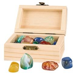 Piraten-Schatztruhe mit 24 echten Mineralien