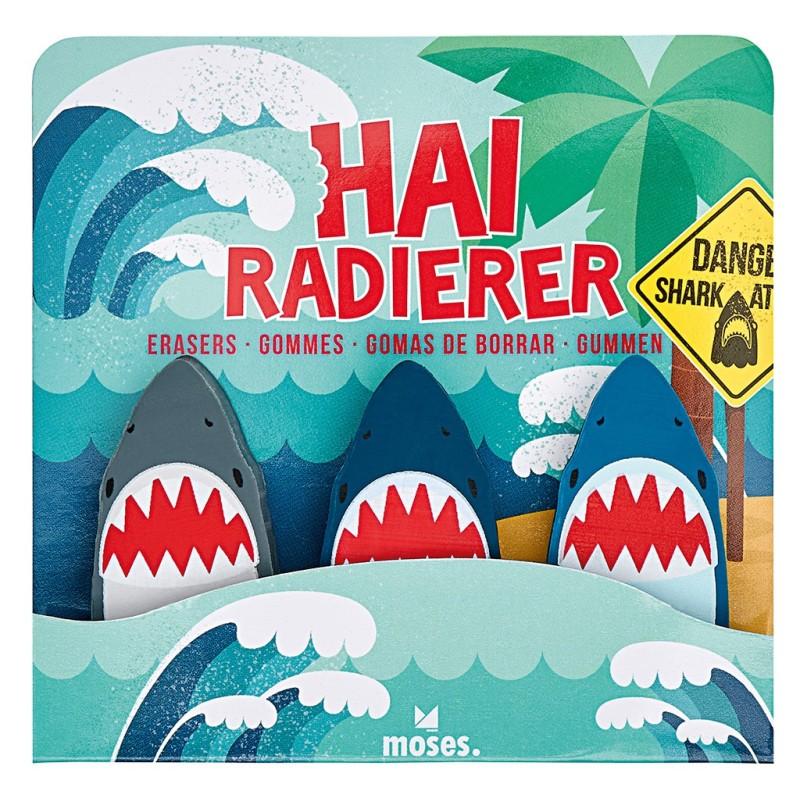 Hai-Radierer Set mit 3 Radierer