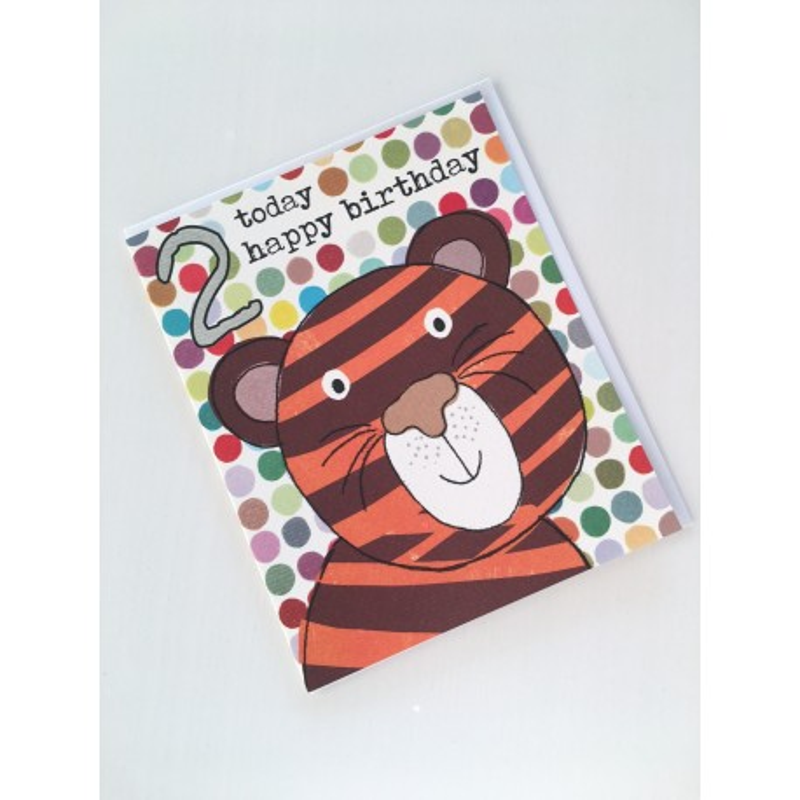 Geburtstagskarte - 2 Today Tiger