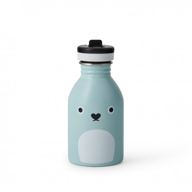 Trinkflasche Ricepudding in blau von Noodoll und 24Bottles