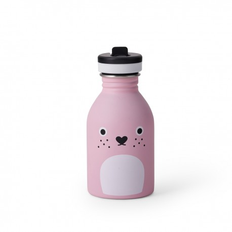 Trinkflasche Ricecarrot in pink von Noodoll und 24Bottles