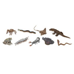 Giftige Kreaturen - Set mit 9 kleinen handbemalten Figuren