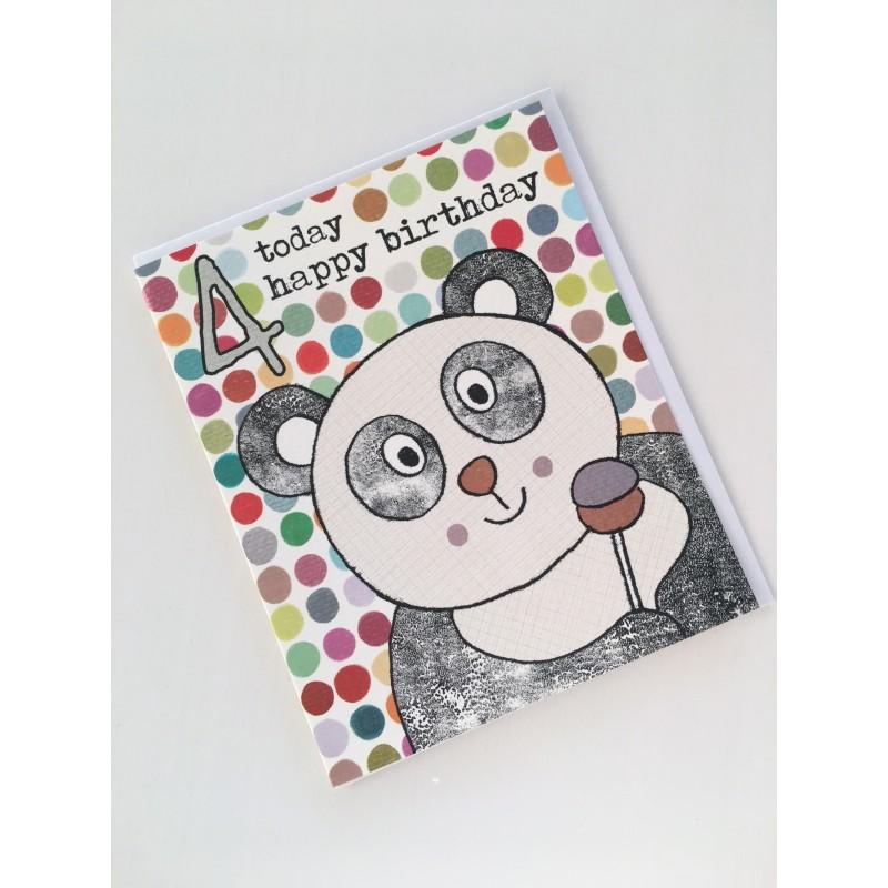 Geburtstagskarte - 4 Today Panda