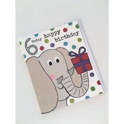 Geburtstagskarte - 6 Today Elephant