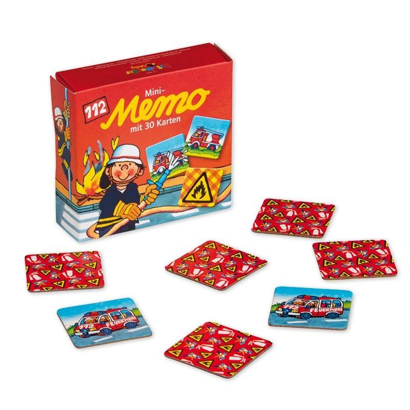 Mini Memo Spiel Feuerwehr mit 30 Kärtchen von Lutz Mauder