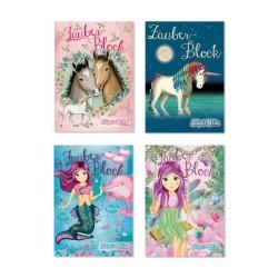 Zauberblöckchen Einhorn, Pferde, Meerjungfrau Coralie & Elfen