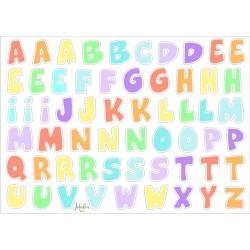 Wasserfeste Sticker ABC in pastellfarben von Jabalou