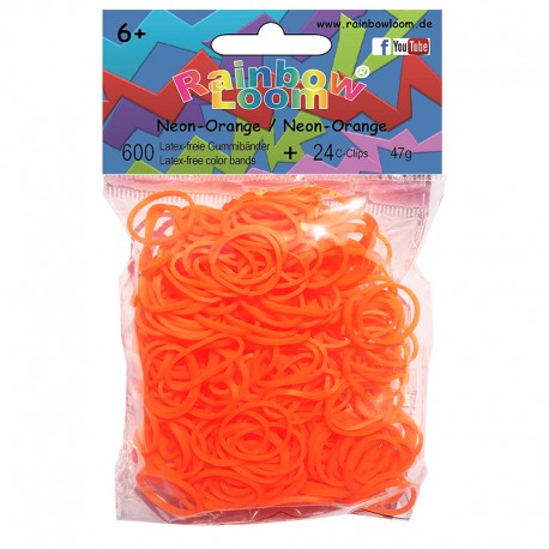 Rainbow Loom® Silikonbänder neon orange