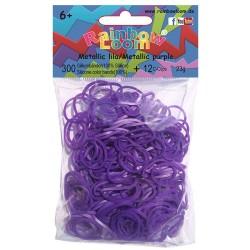 Rainbow Loom® Silikonbänder metallic lila