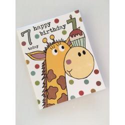 Geburtstagskarte - 7 Today Giraffe
