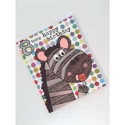 Geburtstagskarte - 8 Today Zebra