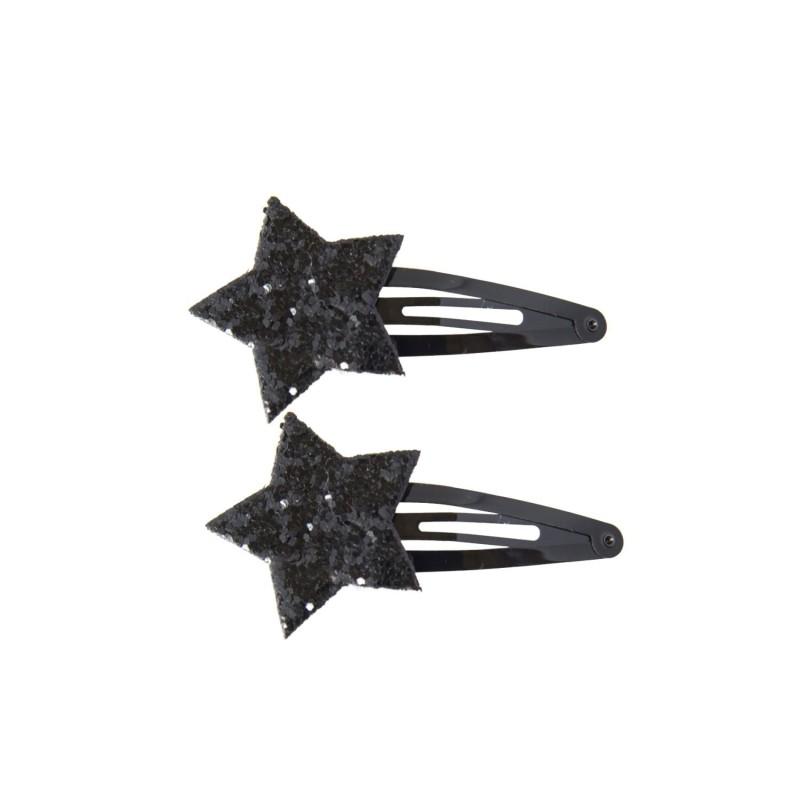 Haarspange Shiny Stars schwarz