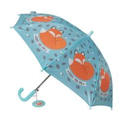 Kinder Regenschirm Rusty the Fox in blau