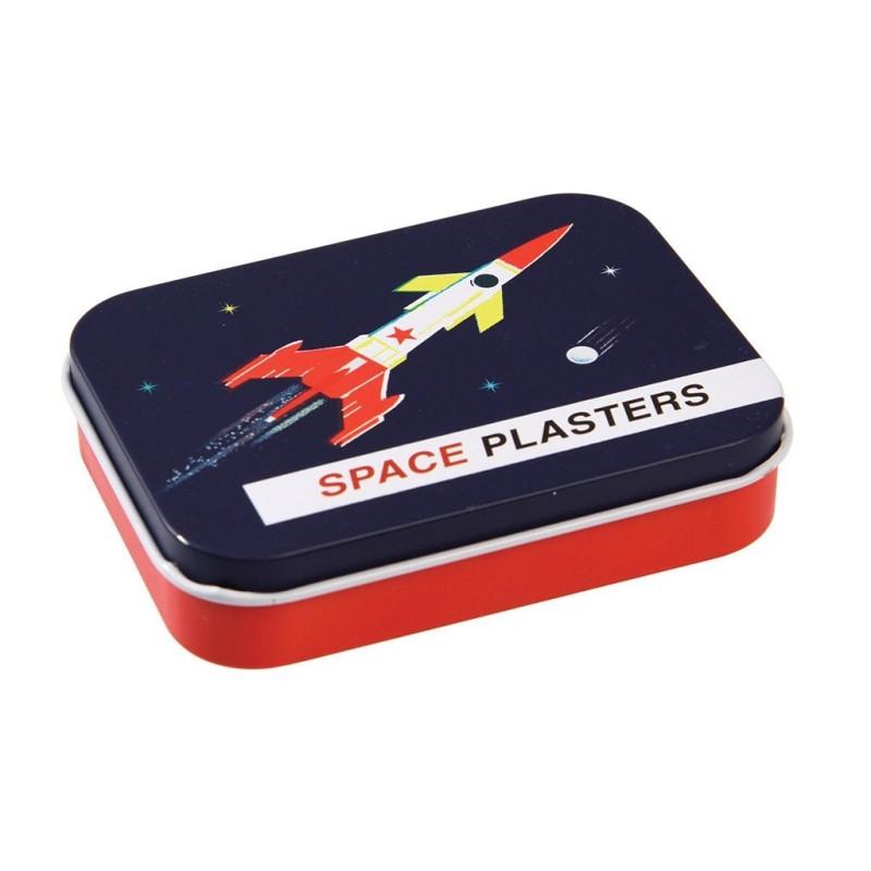 Pflaster Space Age in Metalldose von Rex London