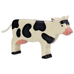 Holztiger Holzfigur Kuh