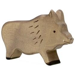 Holztiger Holzfigur Wildschwein Eber