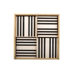 Kapla Baukasten mit 100 schwarz-weissen Holzplättchen
