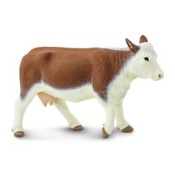 Hereford Kuh - Handbemalte Bauernhof Spielfigur