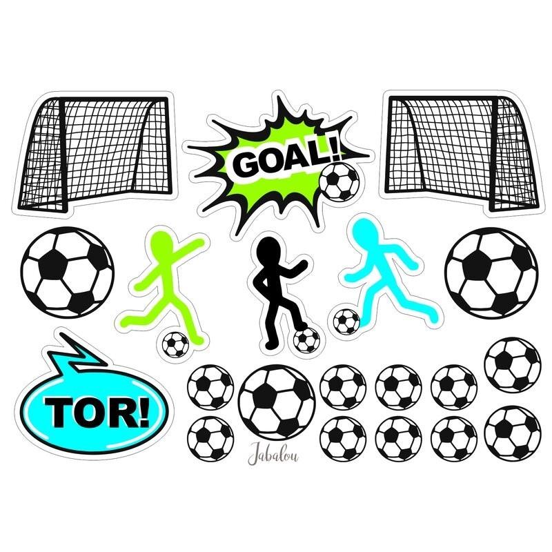 Wasserfeste Sticker Fussball von Jabalou