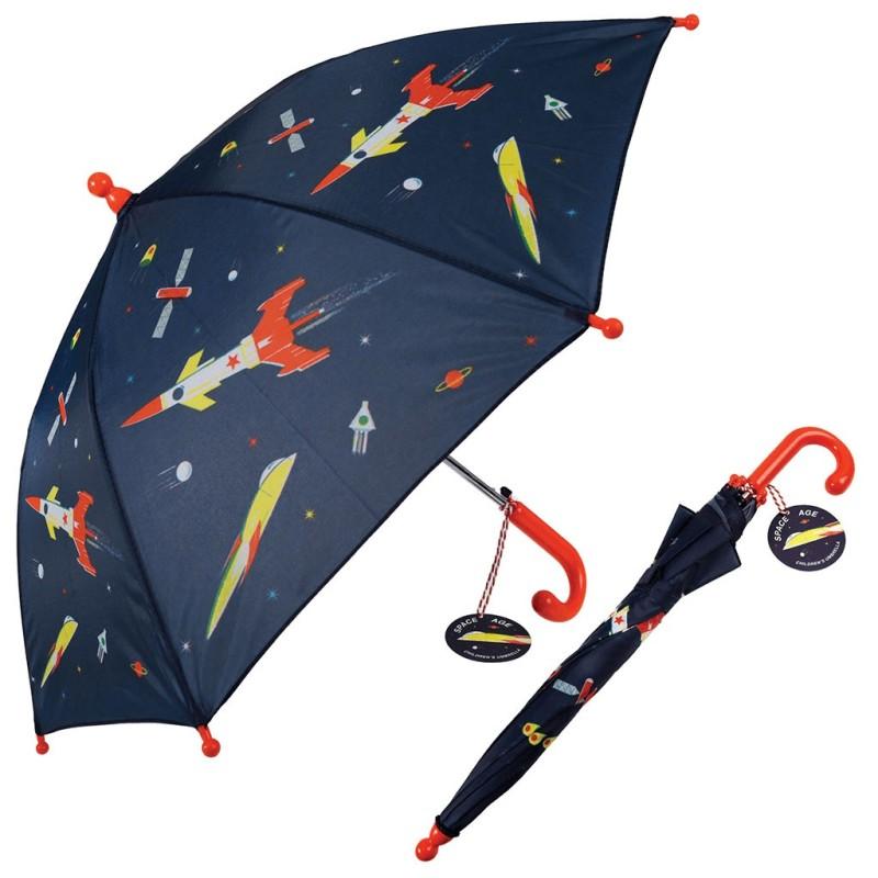 Kinderregenschirm Space Age Weltall von Rex London