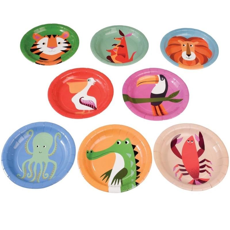 Pappteller Colourful Creatures von Rex London