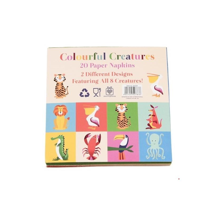 Servietten Colourful Creatures von Rex London