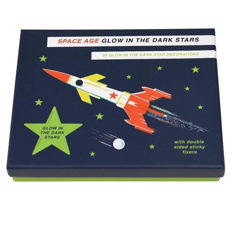 Glow in the Dark Sterne Space Age Box  von Rex London