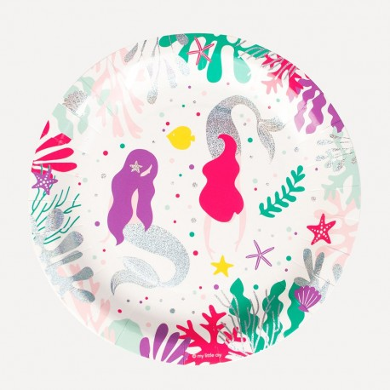 My Little Day - 8 Pappteller Meerjungfrauen